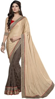 Manvaa Self Design Fashion Crepe Sari
