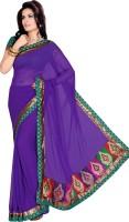 Ishin Solid Chiffon Sari