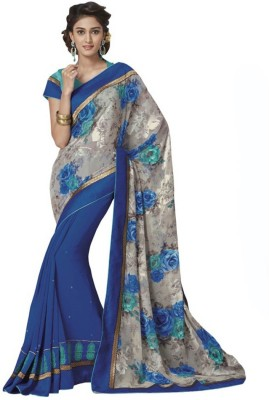 Vishal Saree Printed Fashion Brasso Sari available at Flipkart for Rs.2480