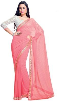 Triveni Solid Fashion Chiffon Sari