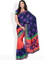 Vichitra Printed Synthetic Sari
