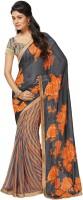 Roop Kashish Floral Print Embellished Georgette Sari