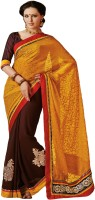 Indian Women Self Design Embroidered Embellished Georgette Sari