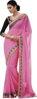 Indian Women By Bahubali Self Design Fashion Chiffon Sari