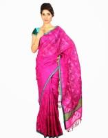 Samyakk Floral Print Silk Sari