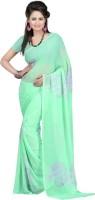Bunny Sarees Floral Print Chiffon Sari - SAREY6CMUWAMBZBB