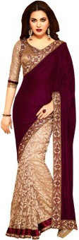 Usha Silk Mills Self Design Bollywood Brasso Sari