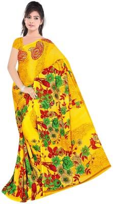 Art Silk Nj Fabric Printed Fashion Art Silk Sari (Yellow)