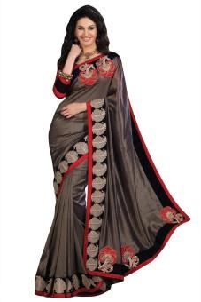 Chirag Sarees Embriodered Fashion Art Silk Sari