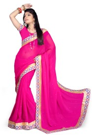 Odhni Embriodered Bollywood Chiffon Sari