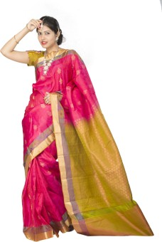 Maya Fashions Self Design Kanjivaram Handloom Pure Silk Sari