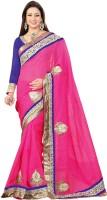 Bhavi Printed Embroidered Embellished Art Silk Sari