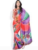 Manvi Floral Print Georgette Sari