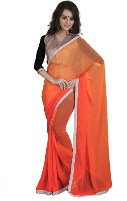 Saree Sansar Solid Bollywood Georgette Sari