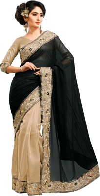 Saree Hub Embriodered, Embellished Fashion Pure Georgette, Net Sari