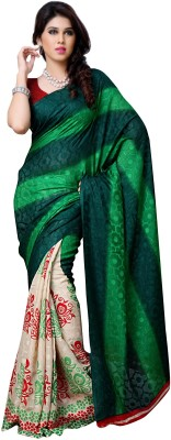 Dream Saree Printed Fashion Brasso Sari available at Flipkart for Rs.2925