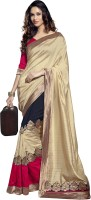 Fashion Boutique Self Design Embroidered Embellished Art Silk Sari