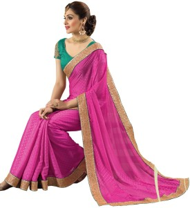 Sudarshan Silks Self Design Mumbai Handloom Georgette, Synthetic Sari
