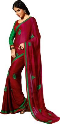 Triveni Solid Fashion Georgette Sari