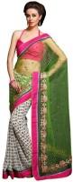 Ethnic Dukaan Striped Net Sari