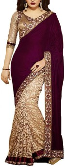 Nidhi Fashion Embriodered Bollywood Georgette, Brasso Sari