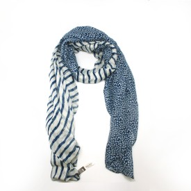 Blue Circle Foulards Striped Polyester Women's Scarf