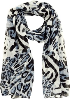 Hi Look Animal Print Polyester Women's Scarf - SCFEBN35P7BHM2BW