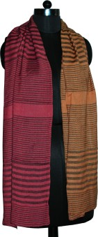 B.N. Exports Striped Viscose Women's Scarf