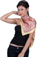 Chhabra 555 Printed Satin Women's Scarf
