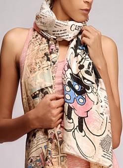 Disney By Shingora Printed Cotton, Silk Women's Scarf - SCFEFYUZY6VZEAGX