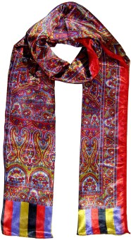 Saffron Craft Printed Satin Silk Women's, Girl's Scarf