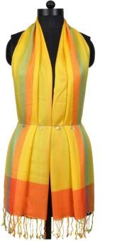 Crafts Republic Self Design Cotton Viscose Women's Scarf