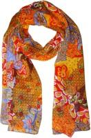 Hi Look Floral Print Polyester Women's Scarf - SCFDWTJAUMNC3AZB