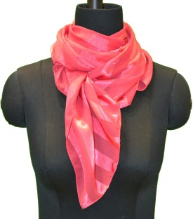 COURTLY LOVE Striped Polyester Women's Scarf