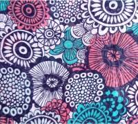 Hi Look Floral Print Polyester Women's Scarf - SCFDWYFAW7T7QBRH