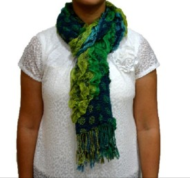 Portia Self Design Cotton Lycra Women's Scarf