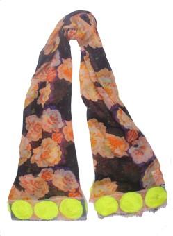 Semantika Floral Print Silk Blend Women's Scarf