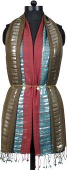 Crafts Republic Self Design Cotton Viscose Women's Scarf - SCFEAN9VHEV4HFHA