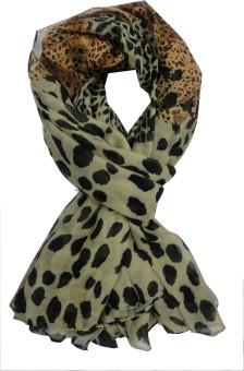 Ecogenes Animal Print Polyester Printed Women's Scarf