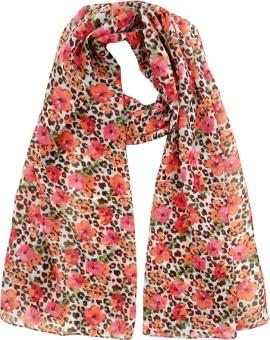 Hi Look Floral Print Polyester Women's Scarf - SCFEBN352QE4EG4N