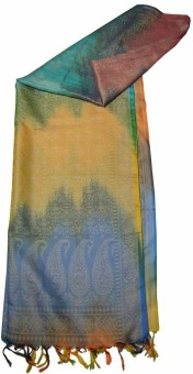 Saffron Craft Self Design Brocade Art Silk Women's Scarf