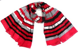 Zapia Striped Polyester Women's Scarf