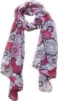 Hi Look Floral Print Polyester Women's Scarf - SCFDWYFAAESYRGQV