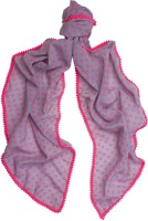 Ivory Tag Polka Dots Polyester Women's Scarf