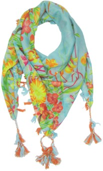 S.Lover Floral Print Poly-Cotton Women's, Girl's Scarf