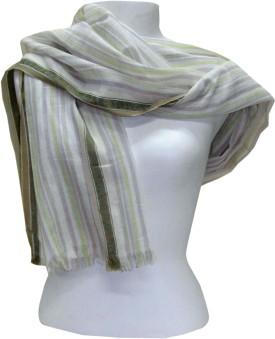 Dushaalaa Striped Cotton/Silk Women's Scarf