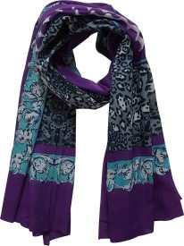 Chiktones Printed 100% Cotton Polyester Women's Scarf