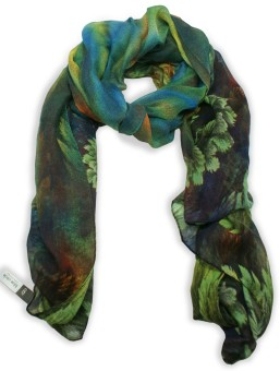 Blue Circle Foulards Printed Polyester Women's Scarf