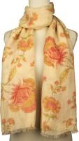 Vozaf Floral Print Linen, Rayon Women's Scarf