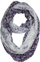 Ivory Tag Floral Polyester Women's Scarf